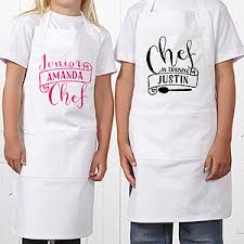 personalized apron chef in