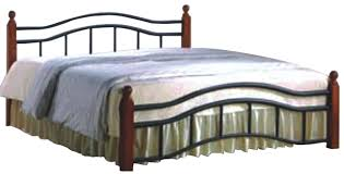 Wooden Sofa Legs Online India Shop Emperor Metal Cot With Wooden Leg Bed Online In Chennai