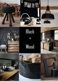 black and wood love the giant chalkboard rustic and industrial living room