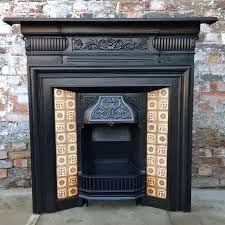 Myhomeideas by Antique Late Victorian Edwardian Cast Iron Tiled Fireplace My