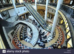 crushed by escalator shopping mall friedrichstrasse berlin stock photos u0026 shopping mall