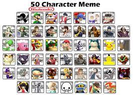 Meme Characters - top 50 nintendo characters meme by crap zapper on deviantart