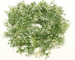 6 ft green and white baby u0027s breath flower garland gypsophila