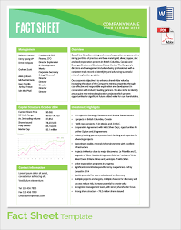 One Sheet Template Sle Fact Sheet Template 13 Free Documents In Pdf Word