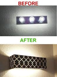 diy bathroom vanity light cover a shade to cover your old fashioned vanity lights vanities
