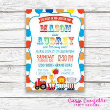 first birthday circus twin circus birthday party invitation boy twins polka
