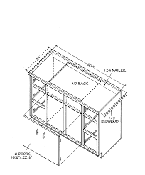 free outdoor kitchen cabinet plans cabinet building basics for