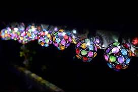 solar led light for globes beaded globe solar led string lights by garden selections