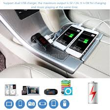 Portable Aux Port For Car Newest Bluetooth Car Kit Mp3 Player Fm Transmitter Aux Lcd Dual