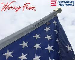 American Flag Header Worry Free American Flag Set