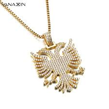 fashion necklace aliexpress images Vanaxin pendant necklace russian double headed eagle cz paved jpg