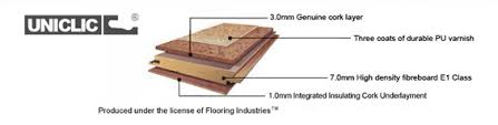 floating cork flooring benefits with uniclic system forna