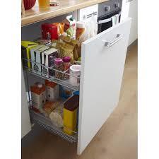 panier coulissant pour meuble de cuisine rangement coulissant 2 paniers pour meuble l 60 cm delinia leroy
