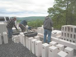 100 building a cinder block house from bottom concrete