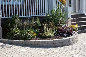 Curved Garden Wall by Garden Edge Concrete Linear Curved Antique Wedgestone