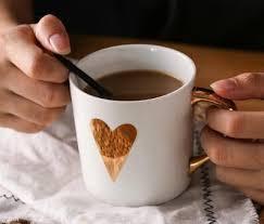 petit d駛euner au bureau tasse en céramique tasse de café amoureux tasse or tasse bureau à