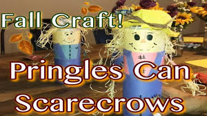 diy fall craft for kids pringles can scarecrow youtube