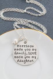 Wedding Gift Necklace Daughter In Law Gift Wedding Quote Necklace Marriage Made