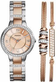 bracelet watches fossil images Women 39 s fossil virginia bronze tone bracelet watch set es3697set gif