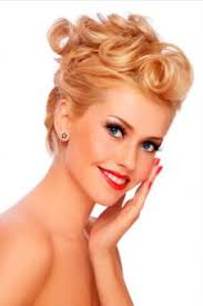 pin curl 50s updo with pin curls lovetoknow