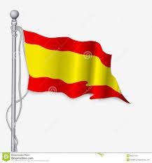 flag of spain waving spanish flag royalty free stock photos