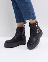 womens size 12 black combat boots s boots ankle knee high the knee asos