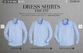 fitted dress shirt vs regular
