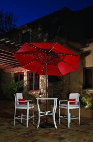 Treasure Garden Umbrella Replacement Pole by 9 U0027 Starlight Collar Tilt Umbrella Red All Things Barbecue