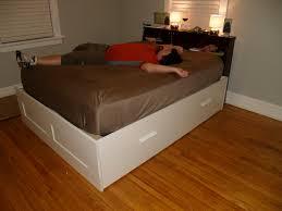 Brimnes Daybed Hack by Outstanding Ikea Hack Platform Bed Diy Youtube Images Of On