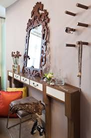 skinny console table living room modern with horse