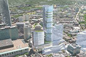 plans for two back bay towers over turnpike move forward curbed