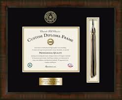 Diploma In Interior Design by Balfour Of Houston Tassel Edition Personalized Diploma Frame In