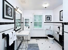 black and white bathroom pictures black white glossy finished wall