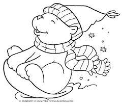 dulemba coloring page tuesday sledding bear