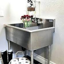 stand alone utility sink utility sink stand faucet and cabinet sam s club throughout laundry