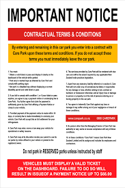 Terms And Conditions 5 Car Parking Terms And Conditions
