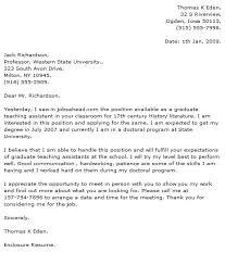 cover letter for graduate teaching assistantship position