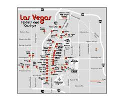 Hotels In Las Vegas Map by Maps Of Las Vegas Detailed Map Of Las Vegas City Tourist Map