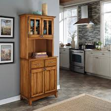 home styles cottage oak and natural buffet with hutch 5001 0061 62