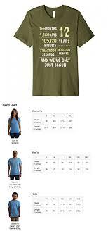 12 year anniversary gift for mens 12 years anniversary premium t shirt gift for or him xl