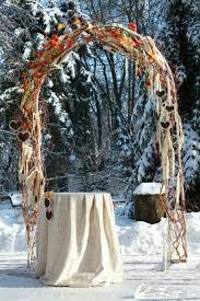 wedding arches outdoor 30 winter wedding arches and altars to get inspired weddingomania
