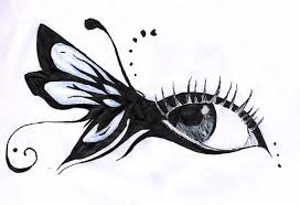 butterfly eye make up sketch by sillynatface on deviantart