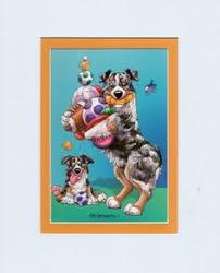 australian shepherd ebay bernese mountain dog miniprint by darlene wilson double mounted