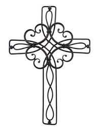 decorative crosses decorative wrought iron wall cross 18 in home sweet home