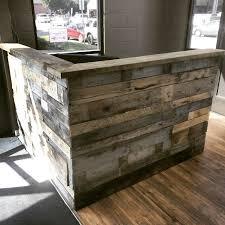 Reclaimed Wood Reception Desk Design Consulting Rhode Blocks