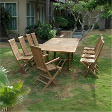 anderson teak valencia 10 person teak patio dining set with double