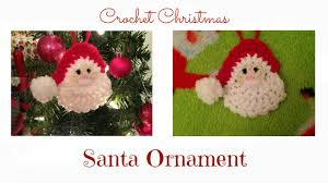 crochet christmas santa ornament tutorial youtube