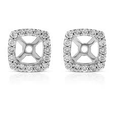 diamond earring jackets cushion shape diamond earring jackets 14k ben bridge jeweler