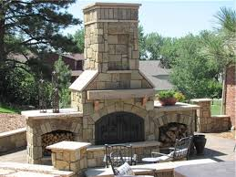decoration stacked stone fireplace outdoor fireplaces can be