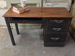 Small Oak Desks Vintage Black Desk Solid Wood Painted Furniture Ranch Oak Desk